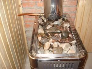 Каменная засыпка для печи бани