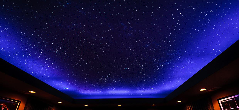 Где стоит устанавливать натяжные потолки Звездное небо?
