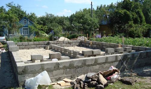 Основные виды фундаментов для дачных домов