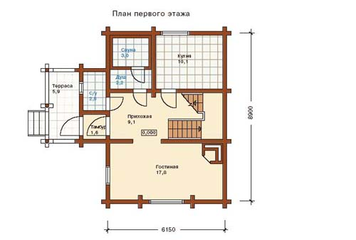 Проект дома. Часть вторая. Обзор типовых проектов домов из бруса 6*9