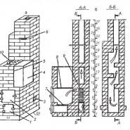 Печь-каменка с верхним размещением водного бака комбинированного действия
