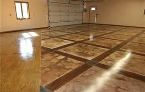 Декорирование бетона – химическое окрашивание