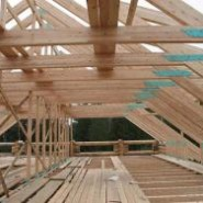 Монтаж крыши бани