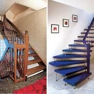 обои для кухни, в которую будет вести лестница