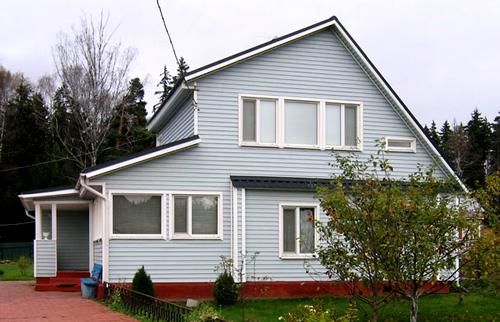 Отделка фасадов и стен зданий виниловым сайдингом