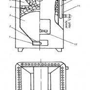 Печь-каменка, предназначенная для твёрдого топлива