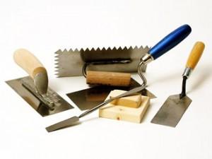 Набор  инструментов для штукатурных работ